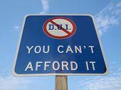 DUI traffic sign in Pennsylvania.