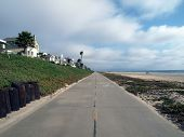 LA beach bike path.  Traffic free weekday travel.