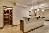 Basement bar area