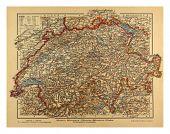 Switzerland Map 1900