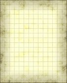 an old piece of parchment paper with gridwork lines on it for maps