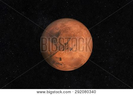 Mars Planet On A Starry