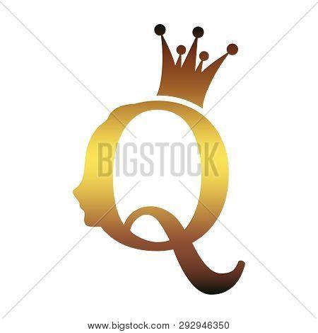 Vintage Queen Silhouette Medieval Queen