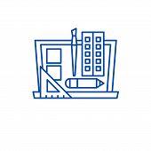 Design Development Line Icon Concept. Design Development Flat  Vector Symbol, Sign, Outline Illustra poster