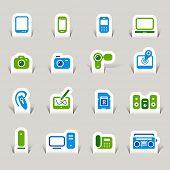 Paper Cut - Media Icons
