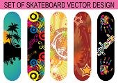 Set Of Skateboard Designs