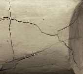 Vintage Cracks Background. Background Surface With Creative Cracks. Web Cracks As Background For Cre poster
