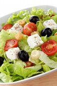 green salad whit feta end tomato