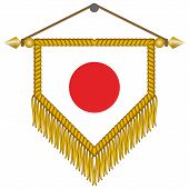 vector pennant with the flag of Japan