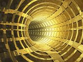 Abstract Ancient Gold Tunnel