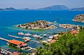 foto of nea  - Turkish village Simena nea the Kekova island - JPG