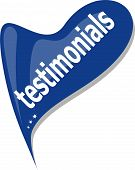 blue Button Web icon testimonials with bubbles