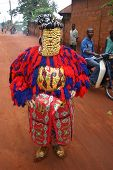 An Egun dancer of the Bobo tribe in West Africa