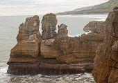 Pancake Rocks In Punakaki In New Zealand