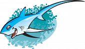 Cartoon Thresha Shark