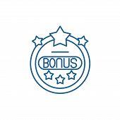 Bonus Chip Line Icon Concept. Bonus Chip Flat  Vector Symbol, Sign, Outline Illustration. poster