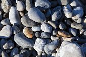 Stones In The Beach, Le Hourdel, Somme, Hauts-de-france, France poster