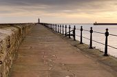 image of tyne  - Mouth of the river Tyne protected by two piers  - JPG