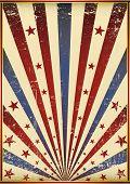 grunge old flag. A poster like a grunge flag background.