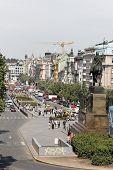 The Wenceslas Square in Prague, Czech Republic, Europe