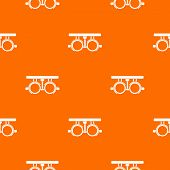 Trial Frame For Checking Patient Vision Pattern Repeat Seamless In Orange Color For Any Design. Geom poster