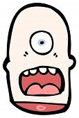 cartoon de cabeça decepada Ciclope