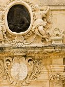 Medieval Baroque Facade poster