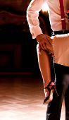 stock photo of tango  - Detail of a couple - JPG