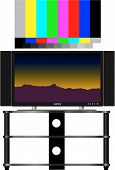 picture of high-def  - High def HDTV and real 16x9 video test pattern color - JPG