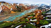 Landscape Of Landmannalaugar Iceland Highland poster