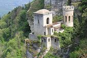 The old castle in Eriche town, Sicily