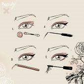 Fashionable make-up and cosmetics