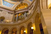 pic of pilaster  - Interior of Minnesota State Capitol under rotunda showing arches of east wing corridor - JPG