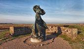 Statue Of Queen Dagmar Looks Towards Ribe, Denmark