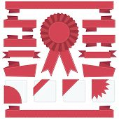 Red Stitched Ribbons