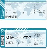 Vector Illustration Of Two Different Variants Of Boarding Pass Tickets. Passengers Need Have Boardin poster