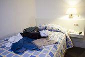 Sloppy Hotel Room