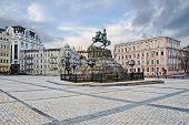stock photo of hetman  - monument to bogdan khmelnitsky in kiev ukraine - JPG