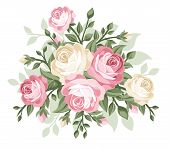 Vector illustration of vintage roses.