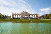 image of schoenbrunn  - Schonbrunn Palace Gardens at Vienna in spring  - JPG
