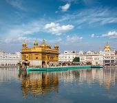 stock photo of gurudwara  - Sikh gurdwara Golden Temple  - JPG
