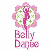 A symbol of belly dances is a silhouette of figure of girl carrying out dance on a background a  dec