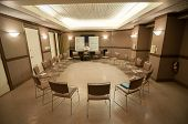 12 Step Recovery Meeting Room With Chairs
