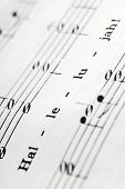 foto of music note  - a detail from the hymnal with the word - JPG