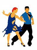 Bailarines latinos