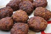 Fresh Meatballs In A Plate