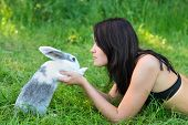 Rabbit And Woman