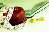 apple tape measure scale and key