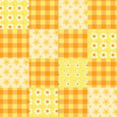 Seamless Patchwork Pattern Orange.