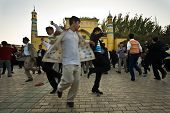 Men Celebrate End Of Ramadan By Dancing